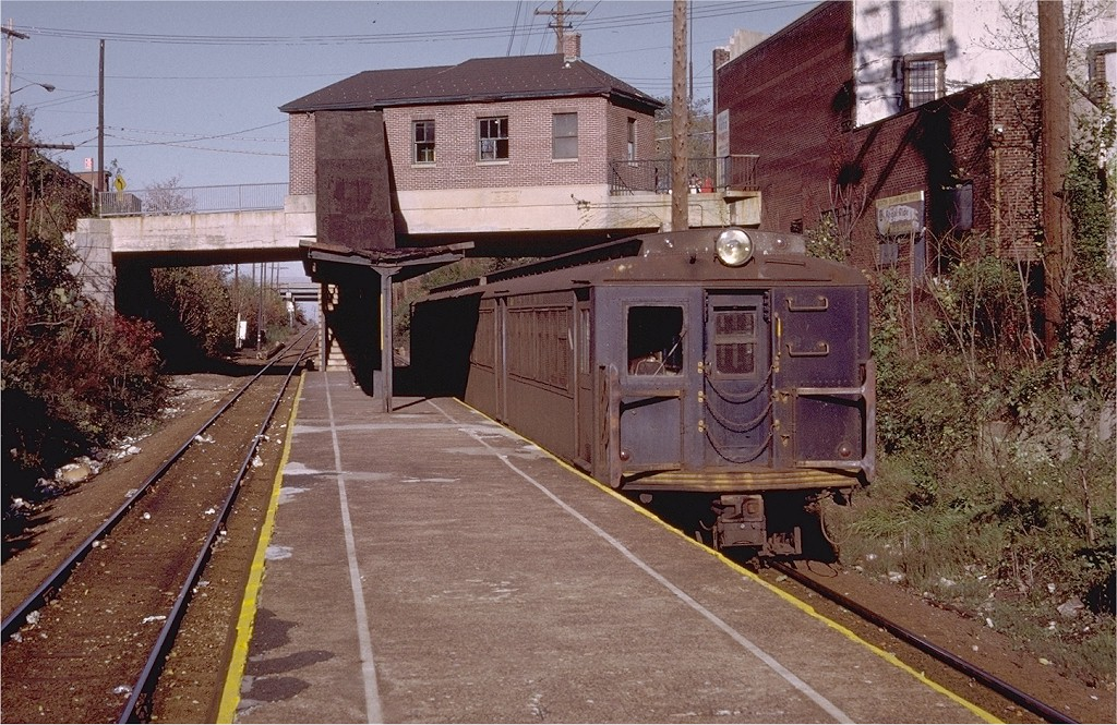 (267k, 1024x665)<br><b>Country:</b> United States<br><b>City:</b> New York<br><b>System:</b> New York City Transit<br><b>Line:</b> SIRT<br><b>Location:</b> Grasmere <br><b>Car:</b> SIRT ME-1 (Motor conv. from trailer)  392 <br><b>Photo by:</b> Doug Grotjahn<br><b>Collection of:</b> Joe Testagrose<br><b>Date:</b> 11/7/1971<br><b>Viewed (this week/total):</b> 1 / 5843