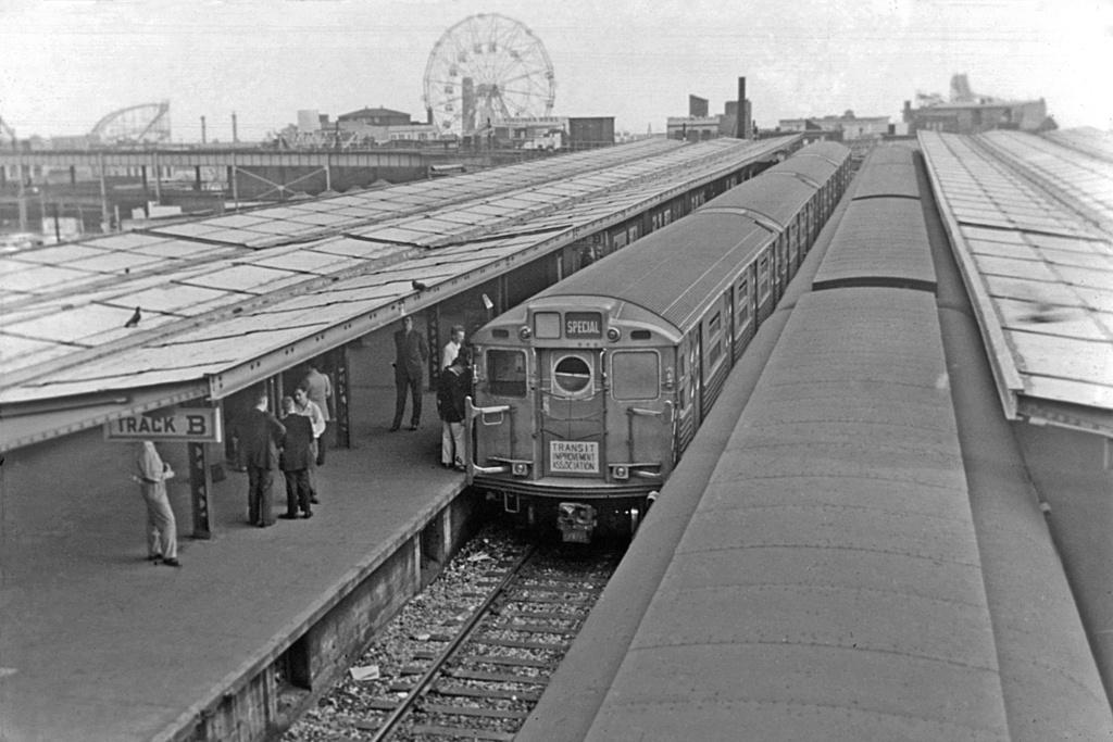 (240k, 1024x683)<br><b>Country:</b> United States<br><b>City:</b> New York<br><b>System:</b> New York City Transit<br><b>Location:</b> Coney Island/Stillwell Avenue<br><b>Route:</b> Fan Trip<br><b>Car:</b> R-11 (Budd, 1949)  <br><b>Collection of:</b> David Pirmann<br><b>Date:</b> 5/26/1957<br><b>Viewed (this week/total):</b> 0 / 3497