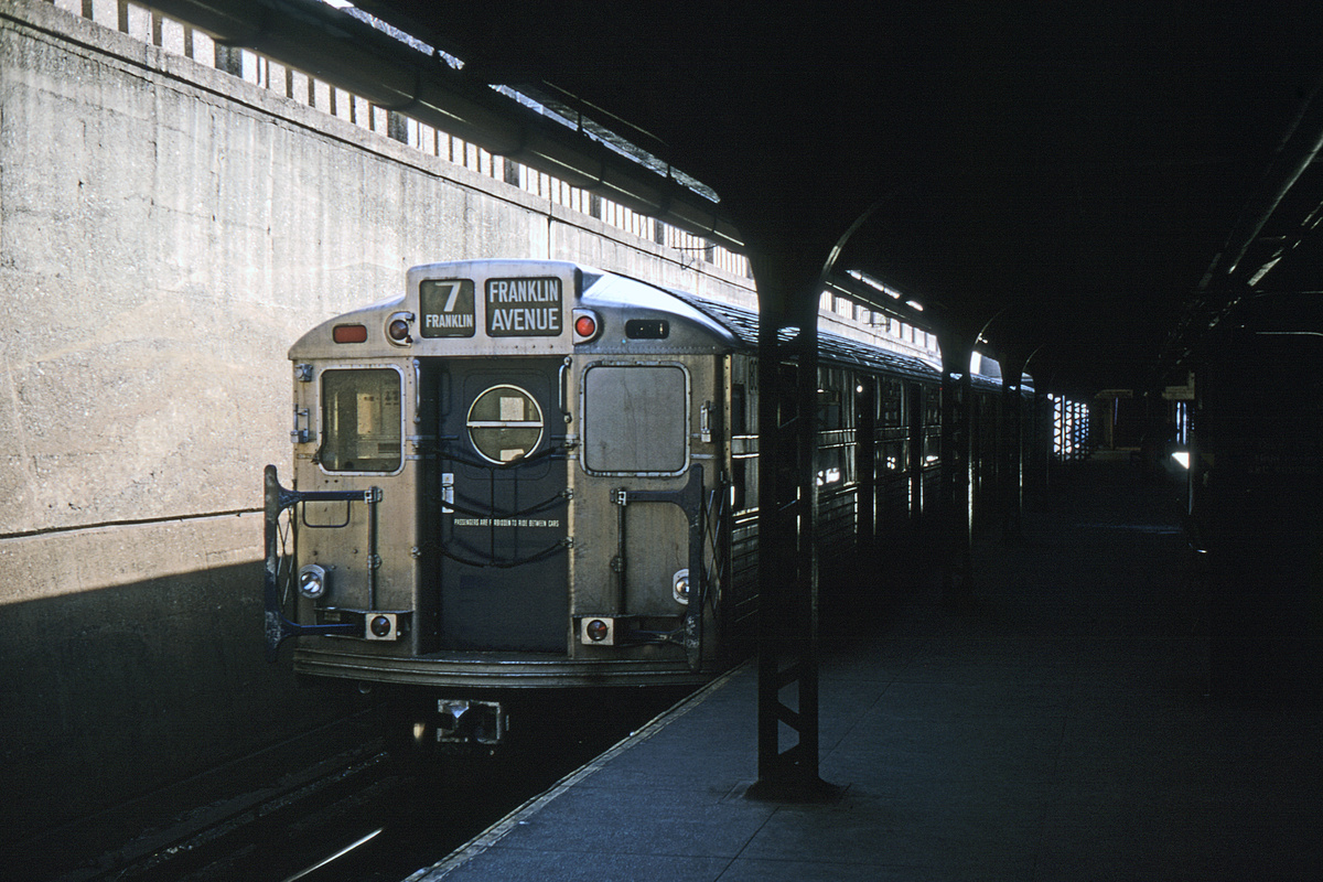 (409k, 1024x683)<br><b>Country:</b> United States<br><b>City:</b> New York<br><b>System:</b> New York City Transit<br><b>Line:</b> BMT Franklin<br><b>Location:</b> Prospect Park <br><b>Route:</b> Fan Trip<br><b>Car:</b> R-11 (Budd, 1949)  <br><b>Collection of:</b> David Pirmann<br><b>Viewed (this week/total):</b> 0 / 2454