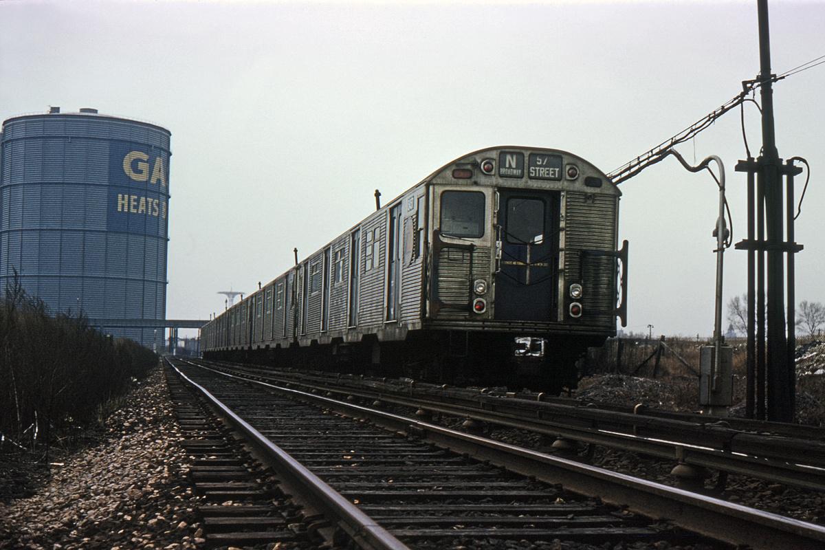 (368k, 1024x682)<br><b>Country:</b> United States<br><b>City:</b> New York<br><b>System:</b> New York City Transit<br><b>Location:</b> Coney Island Yard<br><b>Route:</b> N<br><b>Car:</b> R-32 (Budd, 1964)  3549 <br><b>Collection of:</b> David Pirmann<br><b>Viewed (this week/total):</b> 0 / 2681