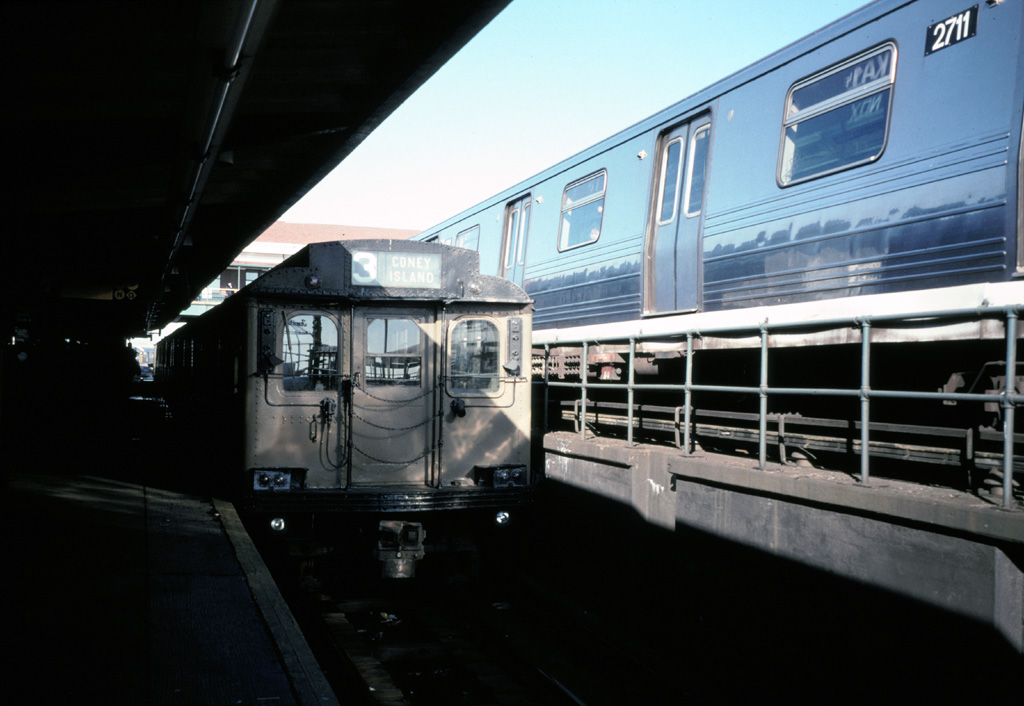 (187k, 1024x706)<br><b>Country:</b> United States<br><b>City:</b> New York<br><b>System:</b> New York City Transit<br><b>Location:</b> Coney Island/Stillwell Avenue<br><b>Route:</b> Fan Trip<br><b>Car:</b> BMT D-Type Triplex  <br><b>Photo by:</b> Chris Leverett<br><b>Date:</b> 12/8/1996<br><b>Viewed (this week/total):</b> 0 / 3030