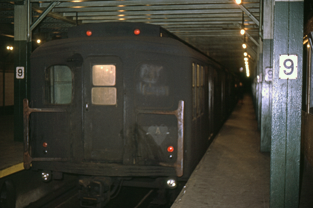 (422k, 1044x722)<br><b>Country:</b> United States<br><b>City:</b> New York<br><b>System:</b> New York City Transit<br><b>Line:</b> BMT Culver Line<br><b>Location:</b> 9th Avenue (Lower Level) <br><b>Route:</b> Culver Shuttle<br><b>Car:</b> BMT A/B-Type Standard 2768 <br><b>Collection of:</b> David Pirmann<br><b>Date:</b> 12/5/1965<br><b>Viewed (this week/total):</b> 8 / 3869