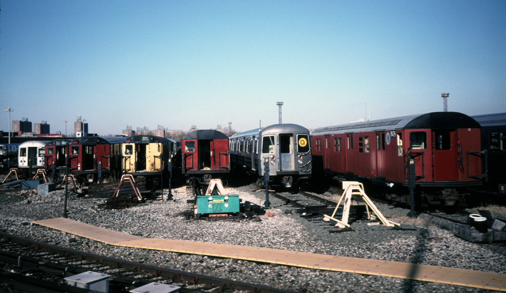(234k, 1024x593)<br><b>Country:</b> United States<br><b>City:</b> New York<br><b>System:</b> New York City Transit<br><b>Location:</b> Coney Island Yard<br><b>Car:</b> R-30 (St. Louis, 1961) 8426 <br><b>Photo by:</b> Chris Leverett<br><b>Date:</b> 12/8/1996<br><b>Notes:</b> View of yard.<br><b>Viewed (this week/total):</b> 4 / 3232