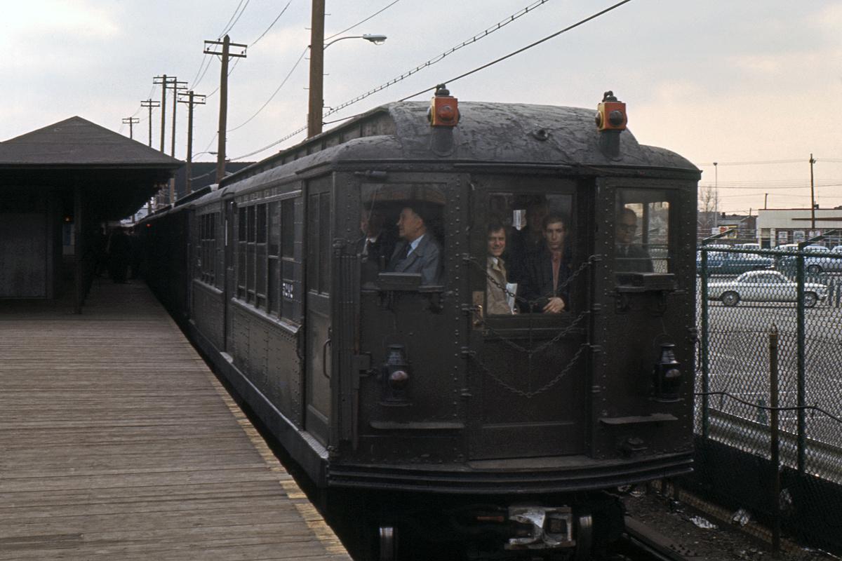 (383k, 1024x683)<br><b>Country:</b> United States<br><b>City:</b> New York<br><b>System:</b> New York City Transit<br><b>Line:</b> BMT Canarsie Line<br><b>Location:</b> Rockaway Parkway <br><b>Car:</b> Low-V (Museum Train) 5292 <br><b>Collection of:</b> David Pirmann<br><b>Date:</b> 5/26/1974<br><b>Viewed (this week/total):</b> 3 / 2398
