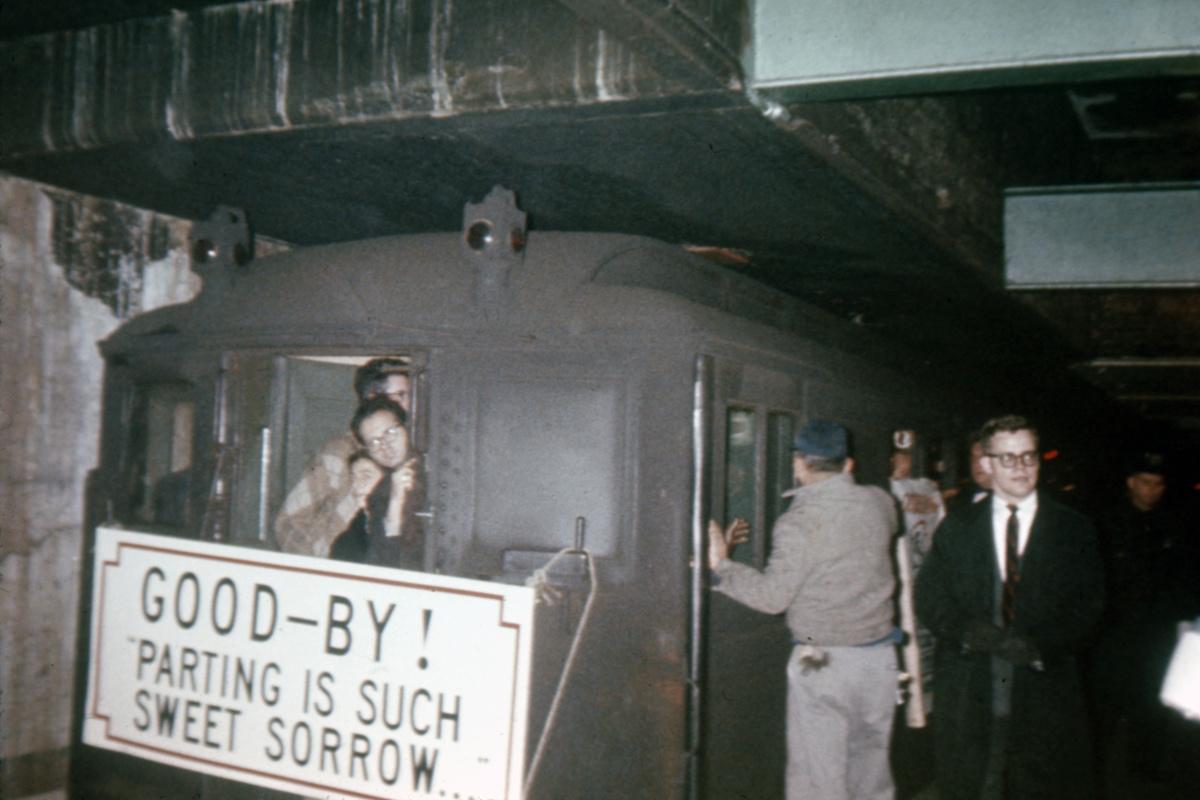 (334k, 1044x744)<br><b>Country:</b> United States<br><b>City:</b> New York<br><b>System:</b> New York City Transit<br><b>Route:</b> Fan Trip<br><b>Car:</b> Low-V 5496 <br><b>Collection of:</b> David Pirmann<br><b>Date:</b> 10/24/1964<br><b>Viewed (this week/total):</b> 1 / 4468