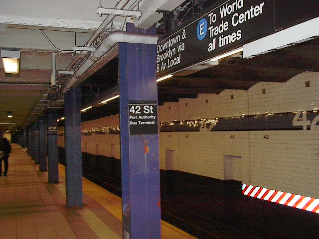 (102k, 640x480)<br><b>Country:</b> United States<br><b>City:</b> New York<br><b>System:</b> New York City Transit<br><b>Line:</b> IND 8th Avenue Line<br><b>Location:</b> 42nd Street/Port Authority Bus Terminal <br><b>Photo by:</b> Bruce Fedow<br><b>Date:</b> 12/4/2005<br><b>Viewed (this week/total):</b> 0 / 3656