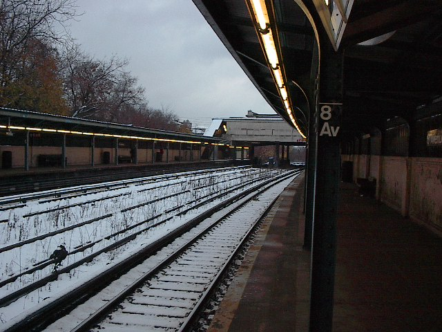 (107k, 640x480)<br><b>Country:</b> United States<br><b>City:</b> New York<br><b>System:</b> New York City Transit<br><b>Line:</b> BMT Sea Beach Line<br><b>Location:</b> 8th Avenue <br><b>Photo by:</b> Bruce Fedow<br><b>Date:</b> 12/4/2005<br><b>Viewed (this week/total):</b> 0 / 1803