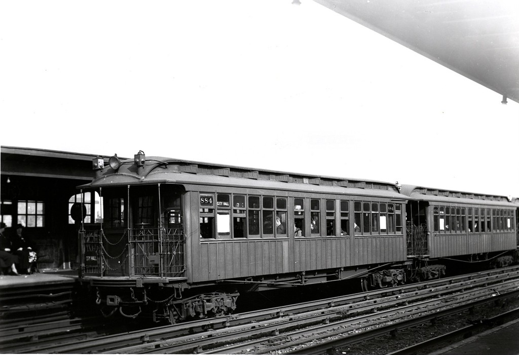 (130k, 1024x701)<br><b>Country:</b> United States<br><b>City:</b> New York<br><b>System:</b> New York City Transit<br><b>Line:</b> IRT Flushing Line<br><b>Location:</b> 40th Street/Lowery Street <br><b>Car:</b> Manhattan El 884 <br><b>Photo by:</b> Kevin Farrell<br><b>Collection of:</b> Joe Testagrose<br><b>Notes:</b> 2nd Ave el service to City Hall<br><b>Viewed (this week/total):</b> 0 / 2191