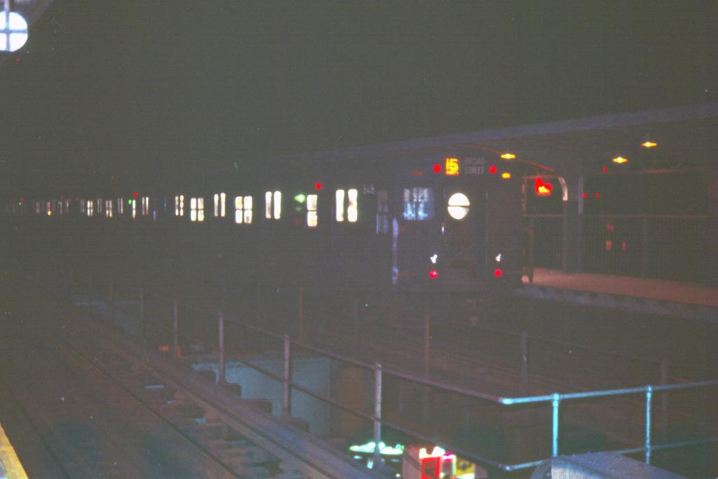 (291k, 1024x683)<br><b>Country:</b> United States<br><b>City:</b> New York<br><b>System:</b> New York City Transit<br><b>Line:</b> BMT Nassau Street/Jamaica Line<br><b>Route:</b> BMT 15-Jamaica<br><b>Car:</b> R-16 (American Car & Foundry, 1955) 6416 <br><b>Collection of:</b> David Pirmann<br><b>Date:</b> 4/17/1966<br><b>Viewed (this week/total):</b> 0 / 3751