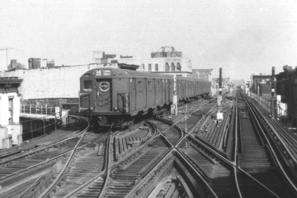 (206k, 1024x683)<br><b>Country:</b> United States<br><b>City:</b> New York<br><b>System:</b> New York City Transit<br><b>Line:</b> BMT Nassau Street/Jamaica Line<br><b>Location:</b> Myrtle Avenue <br><b>Route:</b> BMT 14<br><b>Car:</b> R-16 (American Car & Foundry, 1955)  <br><b>Collection of:</b> David Pirmann<br><b>Viewed (this week/total):</b> 1 / 4333