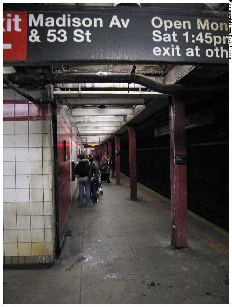 (168k, 788x1044)<br><b>Country:</b> United States<br><b>City:</b> New York<br><b>System:</b> New York City Transit<br><b>Line:</b> IND Queens Boulevard Line<br><b>Location:</b> 5th Avenue/53rd Street <br><b>Photo by:</b> David Pirmann<br><b>Date:</b> 12/30/2005<br><b>Notes:</b> Lower level<br><b>Viewed (this week/total):</b> 0 / 2319