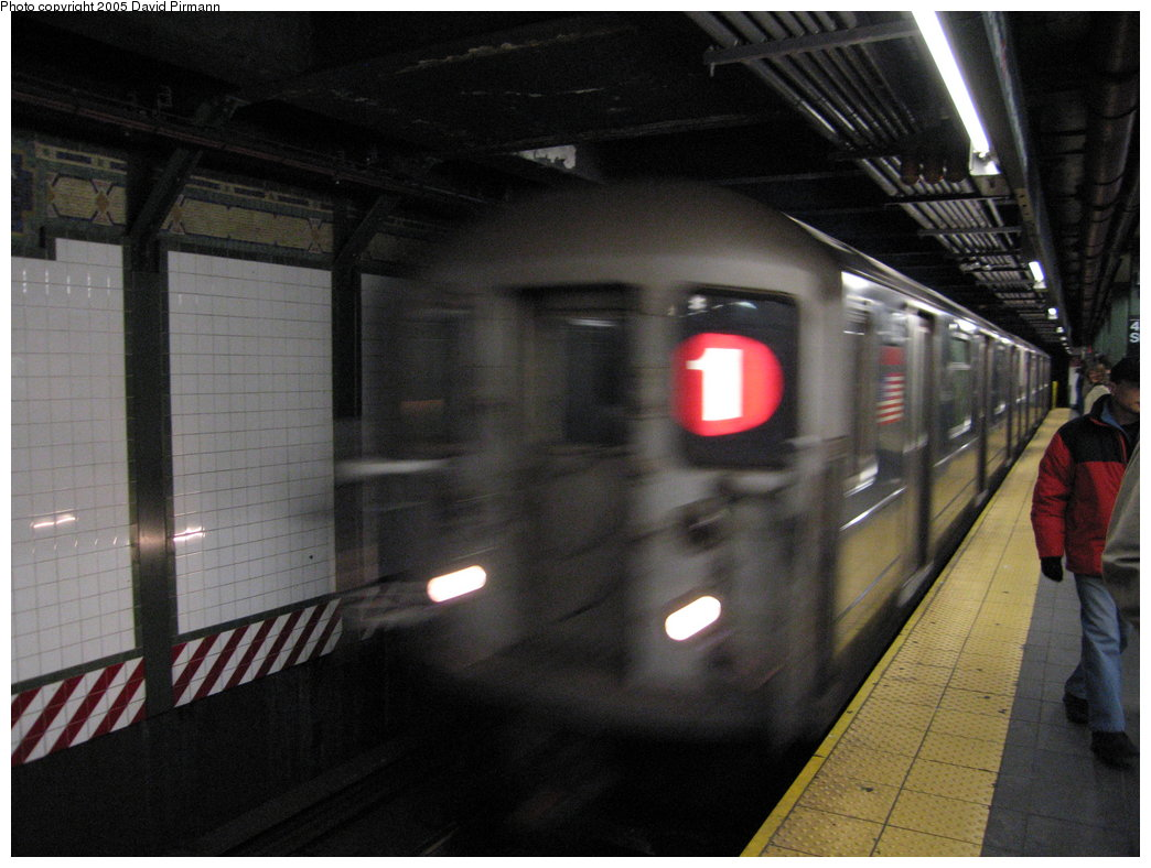 (154k, 1044x788)<br><b>Country:</b> United States<br><b>City:</b> New York<br><b>System:</b> New York City Transit<br><b>Line:</b> IRT West Side Line<br><b>Location:</b> Times Square/42nd Street <br><b>Route:</b> 1<br><b>Car:</b> R-62A (Bombardier, 1984-1987)  1846 <br><b>Photo by:</b> David Pirmann<br><b>Date:</b> 12/30/2005<br><b>Viewed (this week/total):</b> 2 / 3593