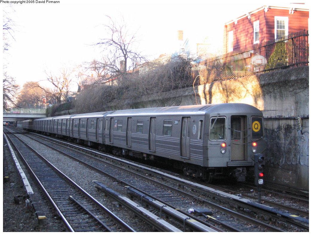 (227k, 1044x788)<br><b>Country:</b> United States<br><b>City:</b> New York<br><b>System:</b> New York City Transit<br><b>Line:</b> BMT Brighton Line<br><b>Location:</b> Newkirk Plaza (fmrly Newkirk Ave.) <br><b>Route:</b> Q<br><b>Car:</b> R-68 (Westinghouse-Amrail, 1986-1988)  2884 <br><b>Photo by:</b> David Pirmann<br><b>Date:</b> 12/30/2005<br><b>Viewed (this week/total):</b> 0 / 2929