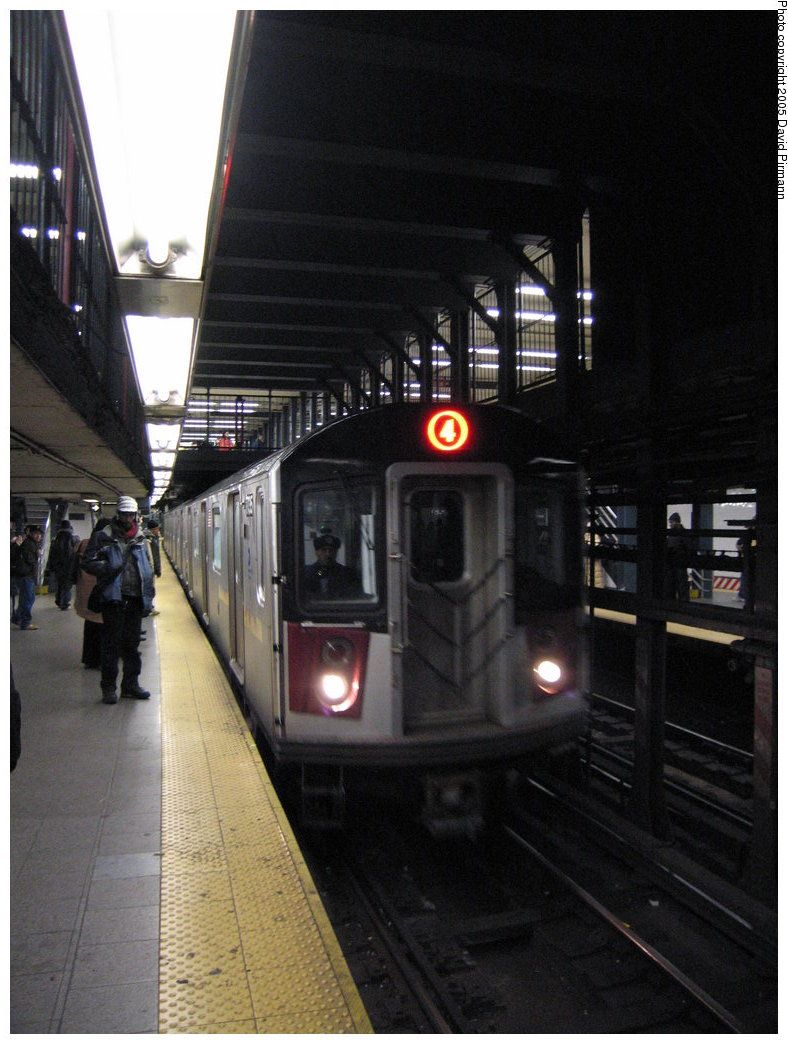 (158k, 788x1044)<br><b>Country:</b> United States<br><b>City:</b> New York<br><b>System:</b> New York City Transit<br><b>Line:</b> IRT East Side Line<br><b>Location:</b> 14th Street/Union Square <br><b>Route:</b> 4<br><b>Car:</b> R-142A (Supplemental Order, Kawasaki, 2003-2004)  7735 <br><b>Photo by:</b> David Pirmann<br><b>Date:</b> 12/30/2005<br><b>Viewed (this week/total):</b> 2 / 4887