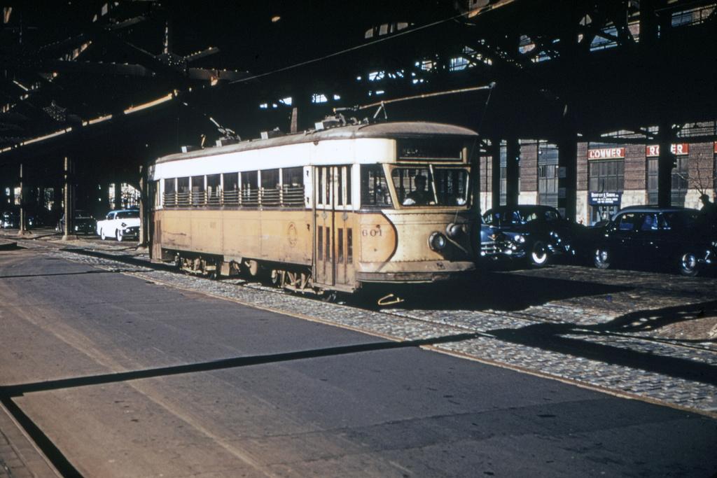 (233k, 1024x679)<br><b>Country:</b> United States<br><b>City:</b> New York<br><b>System:</b> Queensborough Bridge Railway<br><b>Location:</b> Queensborough Plaza <br><b>Car:</b>  601 <br><b>Collection of:</b> David Pirmann<br><b>Date:</b> 1956<br><b>Viewed (this week/total):</b> 6 / 3287