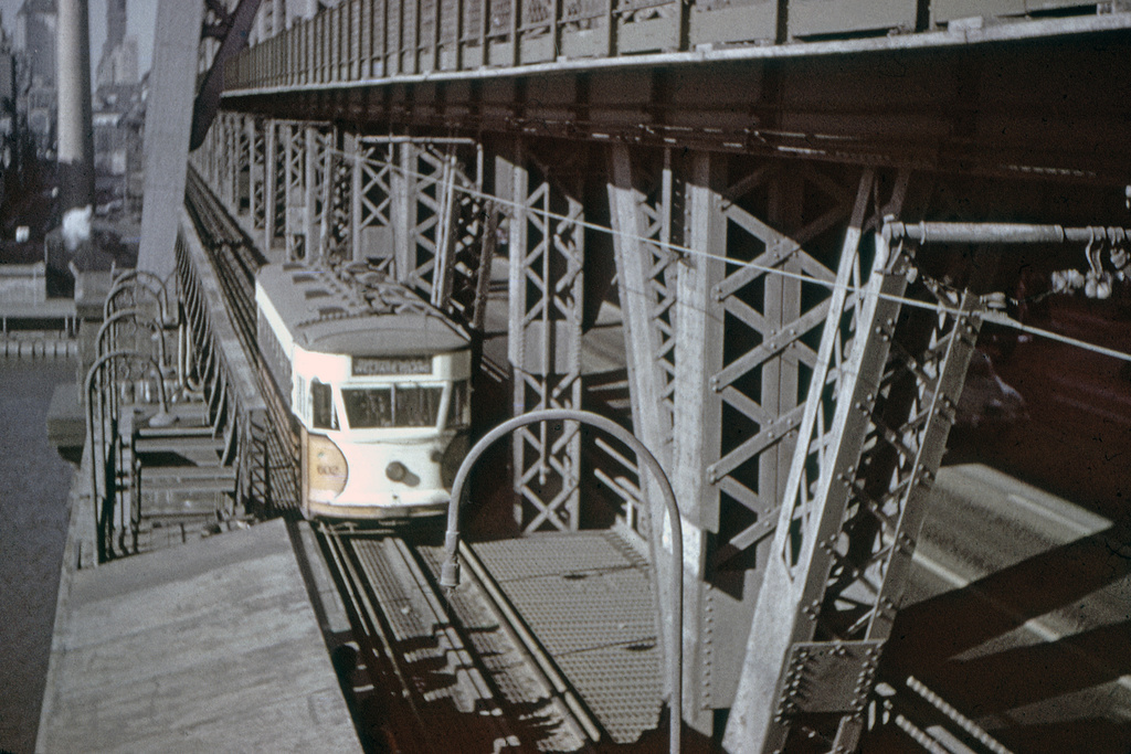(242k, 1024x692)<br><b>Country:</b> United States<br><b>City:</b> New York<br><b>System:</b> Queensborough Bridge Railway<br><b>Location:</b> Queensborough Bridge <br><b>Car:</b>  602 <br><b>Collection of:</b> David Pirmann<br><b>Viewed (this week/total):</b> 1 / 1783