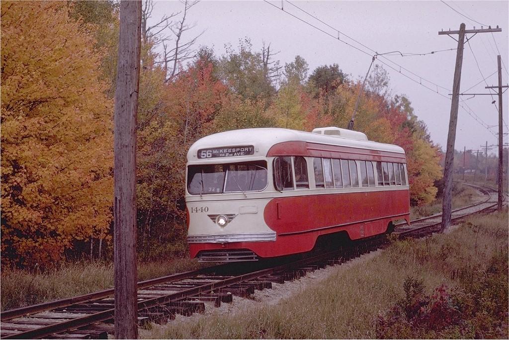 (281k, 1024x684)<br><b>Country:</b> United States<br><b>City:</b> Kennebunk, ME<br><b>System:</b> Seashore Trolley Museum <br><b>Car:</b> Pittsburgh Railways/PAT PCC 1440 <br><b>Photo by:</b> Joe Testagrose<br><b>Date:</b> 10/11/1970<br><b>Viewed (this week/total):</b> 1 / 1007