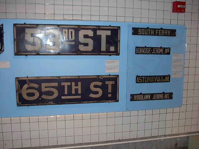 (87k, 640x480)<br><b>Country:</b> United States<br><b>City:</b> New York<br><b>System:</b> New York City Transit<br><b>Location:</b> New York Transit Museum<br><b>Photo by:</b> Bruce Fedow<br><b>Date:</b> 12/28/2005<br><b>Notes:</b> Signage collection at Transit Museum.<br><b>Viewed (this week/total):</b> 0 / 2183