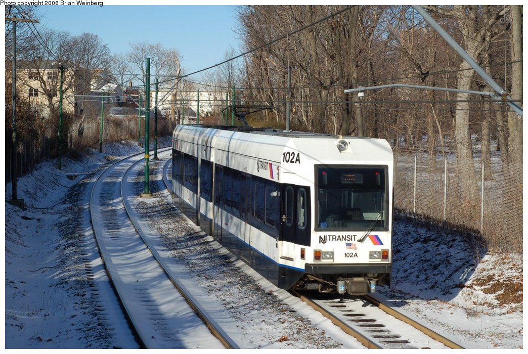 (284k, 1044x700)<br><b>Country:</b> United States<br><b>City:</b> Newark, NJ<br><b>System:</b> Newark City Subway<br><b>Line:</b> 7-City Subway<br><b>Location:</b> Davenport Avenue <br><b>Car:</b> NJT Kinki-Sharyo LRV (Newark) 102 <br><b>Photo by:</b> Brian Weinberg<br><b>Date:</b> 1/15/2006<br><b>Viewed (this week/total):</b> 0 / 1907