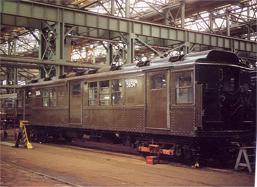 (230k, 1024x746)<br><b>Country:</b> United States<br><b>City:</b> New York<br><b>System:</b> New York City Transit<br><b>Location:</b> Coney Island Shop/Overhaul & Repair Shop<br><b>Car:</b> Low-V Worlds Fair 5654 <br><b>Collection of:</b> Joe Testagrose<br><b>Viewed (this week/total):</b> 0 / 2245