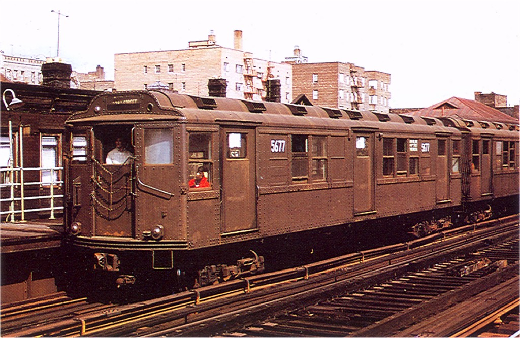 (232k, 1024x666)<br><b>Country:</b> United States<br><b>City:</b> New York<br><b>System:</b> New York City Transit<br><b>Line:</b> 3rd Avenue El<br><b>Location:</b> 204th Street <br><b>Route:</b> 8<br><b>Car:</b> Low-V Worlds Fair 5677 <br><b>Collection of:</b> Joe Testagrose<br><b>Viewed (this week/total):</b> 0 / 2901