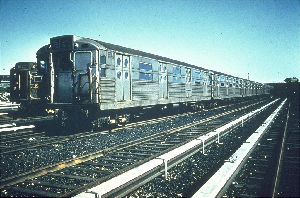 (265k, 1024x675)<br><b>Country:</b> United States<br><b>City:</b> New York<br><b>System:</b> New York City Transit<br><b>Location:</b> Coney Island Yard<br><b>Car:</b> R-11 (Budd, 1949) 8013 <br><b>Photo by:</b> Dick Solomon<br><b>Collection of:</b> Joe Testagrose<br><b>Date:</b> 1/7/1958<br><b>Viewed (this week/total):</b> 0 / 3224