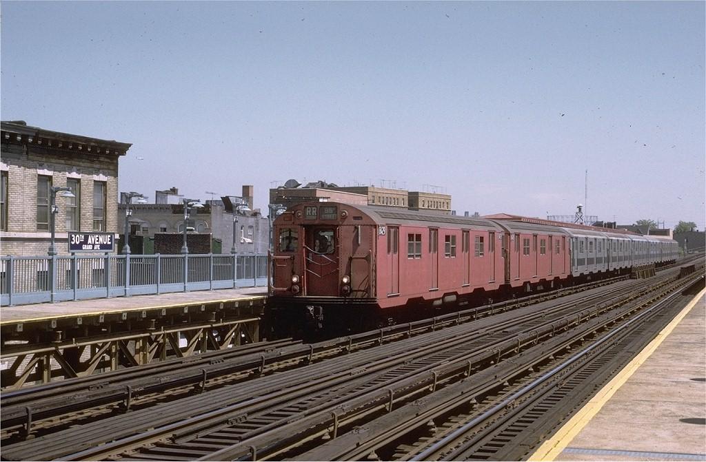 (206k, 1024x671)<br><b>Country:</b> United States<br><b>City:</b> New York<br><b>System:</b> New York City Transit<br><b>Line:</b> BMT Astoria Line<br><b>Location:</b> 30th/Grand Aves. <br><b>Route:</b> RR<br><b>Car:</b> R-30 (St. Louis, 1961) 8429 <br><b>Photo by:</b> Joe Testagrose<br><b>Date:</b> 5/27/1972<br><b>Viewed (this week/total):</b> 0 / 2399