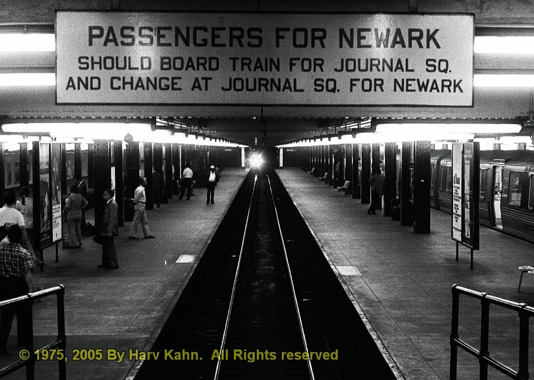 (269k, 1050x748)<br><b>Country:</b> United States<br><b>City:</b> New York<br><b>System:</b> PATH<br><b>Location:</b> 33rd Street <br><b>Photo by:</b> Harv Kahn<br><b>Date:</b> 5/31/1975<br><b>Viewed (this week/total):</b> 0 / 4883