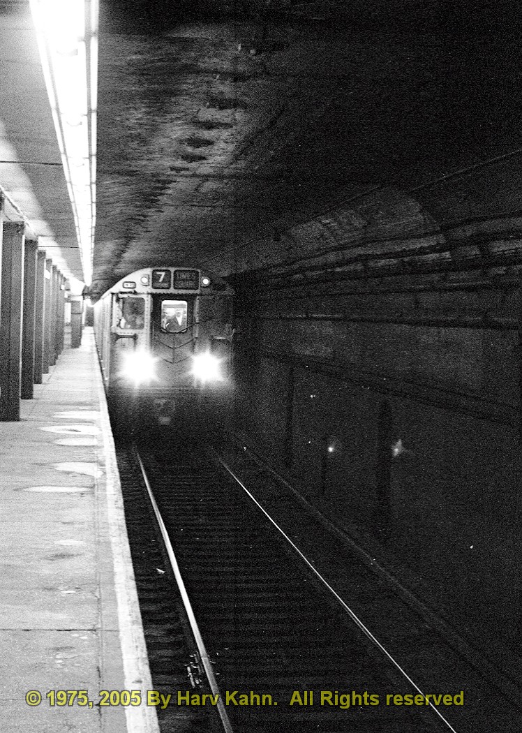 (328k, 748x1050)<br><b>Country:</b> United States<br><b>City:</b> New York<br><b>System:</b> New York City Transit<br><b>Line:</b> IRT Flushing Line<br><b>Location:</b> Vernon-Jackson Avenues <br><b>Car:</b> R-36 World's Fair (St. Louis, 1963-64) 9360 <br><b>Photo by:</b> Harv Kahn<br><b>Date:</b> 5/31/1975<br><b>Viewed (this week/total):</b> 2 / 4984