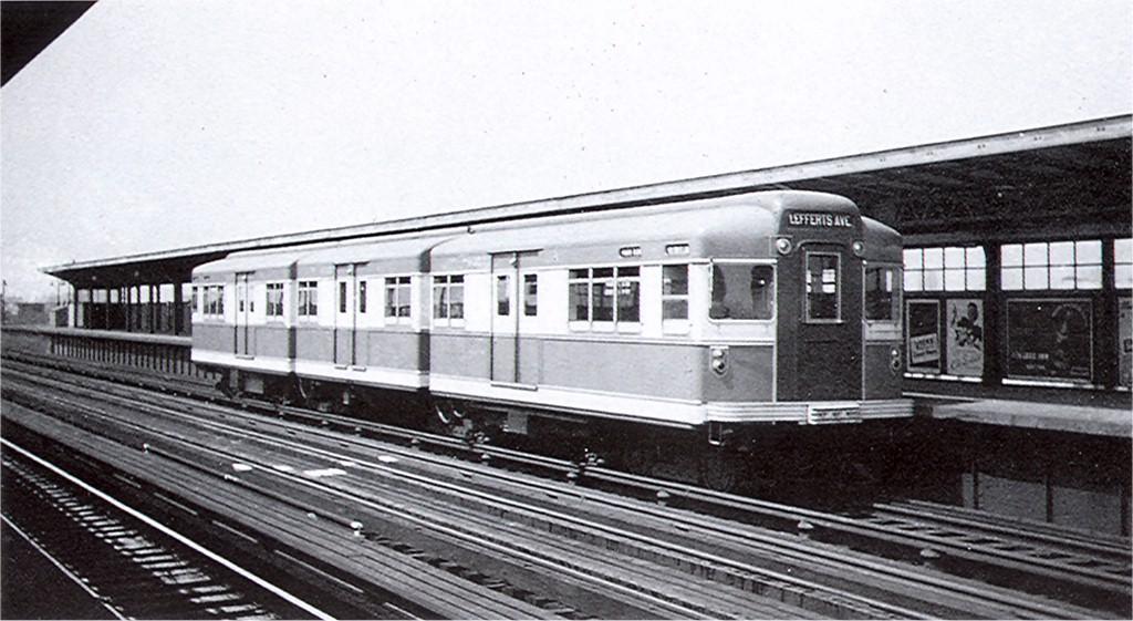 (166k, 1024x561)<br><b>Country:</b> United States<br><b>City:</b> New York<br><b>System:</b> New York City Transit<br><b>Line:</b> IND Fulton Street Line<br><b>Location:</b> 111th Street/Greenwood Avenue <br><b>Car:</b> BMT Bluebird 8000 <br><b>Photo by:</b> Ed Watson/Arthur Lonto Collection<br><b>Collection of:</b> Joe Testagrose<br><b>Date:</b> 4/20/1939<br><b>Viewed (this week/total):</b> 4 / 4329