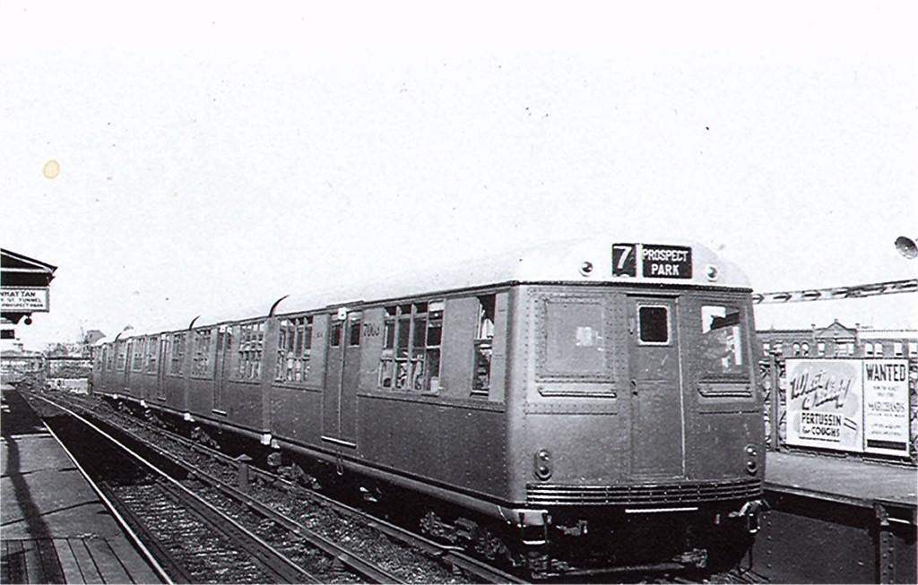 (159k, 1024x653)<br><b>Country:</b> United States<br><b>City:</b> New York<br><b>System:</b> New York City Transit<br><b>Line:</b> BMT Franklin<br><b>Location:</b> Dean Street <br><b>Car:</b> BMT Green Hornet  <br><b>Photo by:</b> Ed Watson/Arthur Lonto Collection<br><b>Collection of:</b> Joe Testagrose<br><b>Date:</b> 1938<br><b>Viewed (this week/total):</b> 5 / 4819