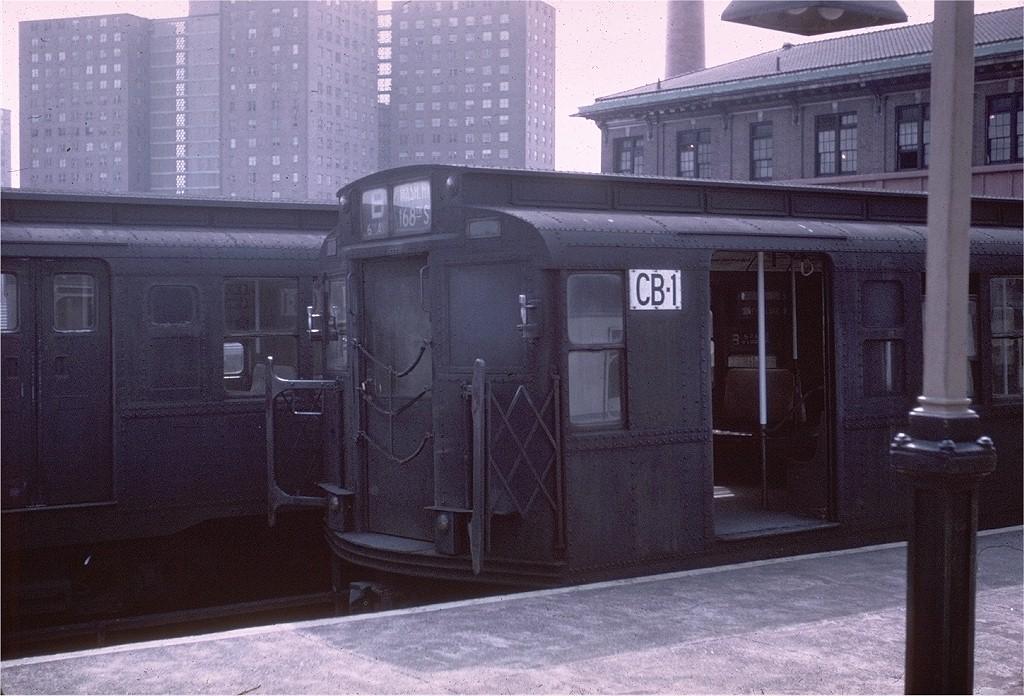 (213k, 1024x696)<br><b>Country:</b> United States<br><b>City:</b> New York<br><b>System:</b> New York City Transit<br><b>Location:</b> Coney Island/Stillwell Avenue<br><b>Route:</b> B<br><b>Car:</b> R-1 (American Car & Foundry, 1930-1931) CB1 (ex-261)<br><b>Photo by:</b> Steve Zabel<br><b>Collection of:</b> Joe Testagrose<br><b>Date:</b> 4/12/1968<br><b>Viewed (this week/total):</b> 1 / 2931