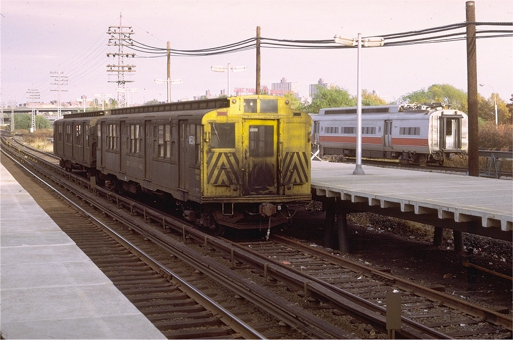 (229k, 1024x679)<br><b>Country:</b> United States<br><b>System:</b> Long Island Rail Road<br><b>Line:</b> LIRR Port Washington<br><b>Location:</b> Shea Stadium <br><b>Car:</b> R-4 (American Car & Foundry, 1932-1933) M504 (ex-466)<br><b>Photo by:</b> Doug Grotjahn<br><b>Collection of:</b> Joe Testagrose<br><b>Date:</b> 10/31/1972<br><b>Viewed (this week/total):</b> 0 / 4745