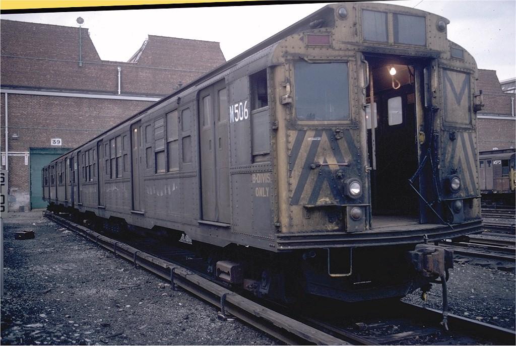 (218k, 1024x687)<br><b>Country:</b> United States<br><b>City:</b> New York<br><b>System:</b> New York City Transit<br><b>Location:</b> Coney Island Yard<br><b>Car:</b> R-4 (American Car & Foundry, 1932-1933) M506 (ex-493)<br><b>Photo by:</b> Steve Zabel<br><b>Collection of:</b> Joe Testagrose<br><b>Date:</b> 4/17/1978<br><b>Viewed (this week/total):</b> 0 / 1946