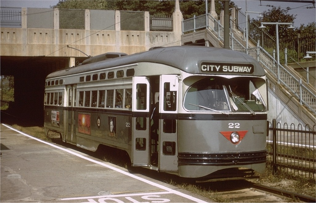 (201k, 1024x660)<br><b>Country:</b> United States<br><b>City:</b> Newark, NJ<br><b>System:</b> Newark City Subway<br><b>Location:</b> Davenport Avenue <br><b>Car:</b> NJTransit/PSCT PCC (Ex-Twin City) (St. Louis Car Co., 1946-1947) 22 <br><b>Collection of:</b> Joe Testagrose<br><b>Date:</b> 10/5/1967<br><b>Viewed (this week/total):</b> 2 / 2360