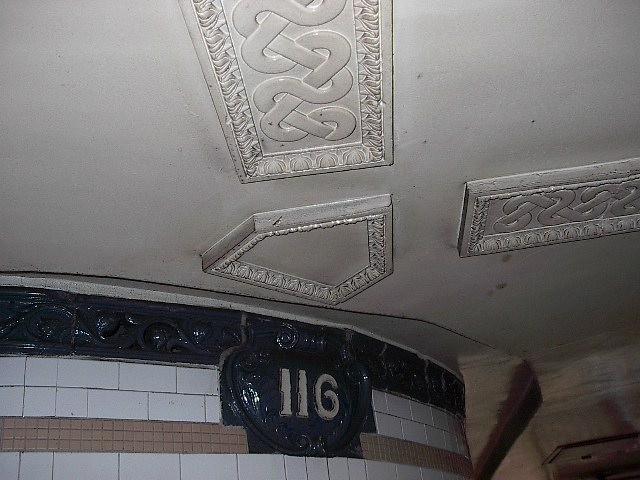 (81k, 640x480)<br><b>Country:</b> United States<br><b>City:</b> New York<br><b>System:</b> New York City Transit<br><b>Line:</b> IRT Lenox Line<br><b>Location:</b> 116th Street <br><b>Photo by:</b> Bruce Fedow<br><b>Date:</b> 1/19/2006<br><b>Viewed (this week/total):</b> 3 / 2178