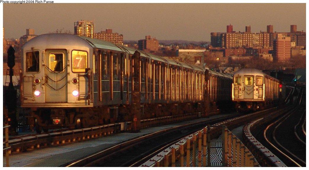(146k, 1044x574)<br><b>Country:</b> United States<br><b>City:</b> New York<br><b>System:</b> New York City Transit<br><b>Line:</b> IRT Flushing Line<br><b>Location:</b> Junction Boulevard <br><b>Route:</b> 7<br><b>Car:</b> R-62A (Bombardier, 1984-1987)   <br><b>Photo by:</b> Richard Panse<br><b>Date:</b> 1/24/2006<br><b>Viewed (this week/total):</b> 0 / 3095