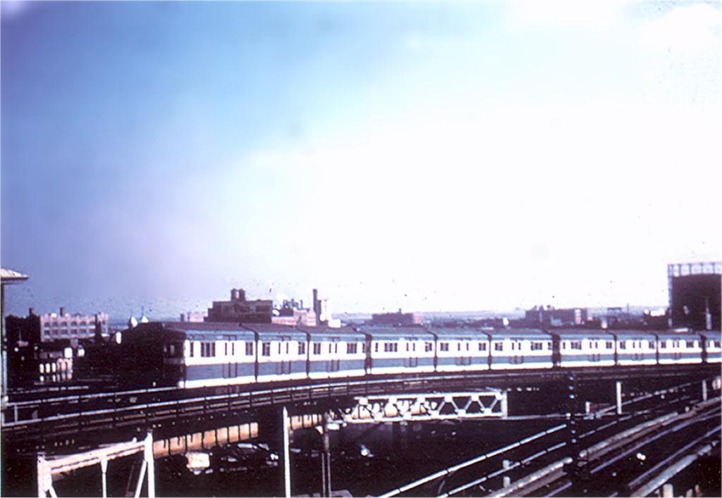 (123k, 1024x707)<br><b>Country:</b> United States<br><b>City:</b> New York<br><b>System:</b> New York City Transit<br><b>Line:</b> BMT Canarsie Line<br><b>Location:</b> Broadway Junction <br><b>Car:</b> BMT Bluebird  <br><b>Photo by:</b> Doug Grotjahn<br><b>Collection of:</b> Joe Testagrose<br><b>Viewed (this week/total):</b> 1 / 3769