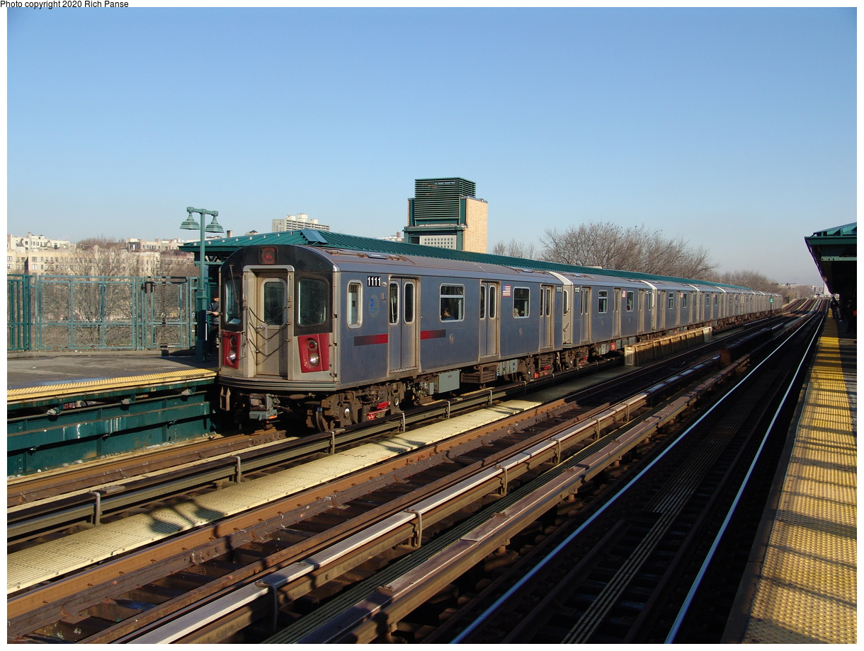 (255k, 1044x788)<br><b>Country:</b> United States<br><b>City:</b> New York<br><b>System:</b> New York City Transit<br><b>Line:</b> IRT Woodlawn Line<br><b>Location:</b> 161st Street/River Avenue (Yankee Stadium) <br><b>Route:</b> 4<br><b>Car:</b> R-142 (Option Order, Bombardier, 2002-2003)  1111 <br><b>Photo by:</b> Richard Panse<br><b>Date:</b> 1/24/2006<br><b>Viewed (this week/total):</b> 0 / 3792