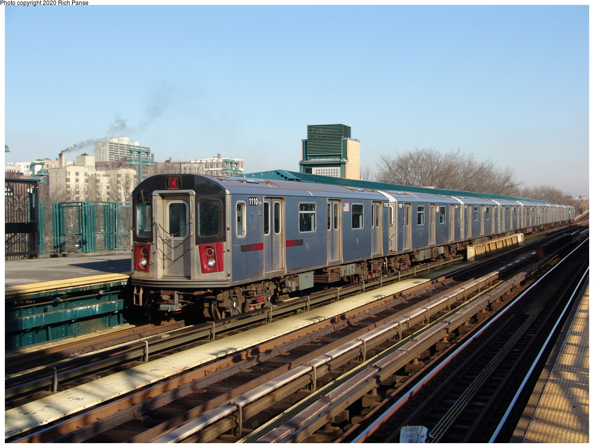 (254k, 1044x788)<br><b>Country:</b> United States<br><b>City:</b> New York<br><b>System:</b> New York City Transit<br><b>Line:</b> IRT Woodlawn Line<br><b>Location:</b> 161st Street/River Avenue (Yankee Stadium) <br><b>Route:</b> 4<br><b>Car:</b> R-142 (Option Order, Bombardier, 2002-2003)  1110 <br><b>Photo by:</b> Richard Panse<br><b>Date:</b> 1/24/2006<br><b>Viewed (this week/total):</b> 0 / 4192
