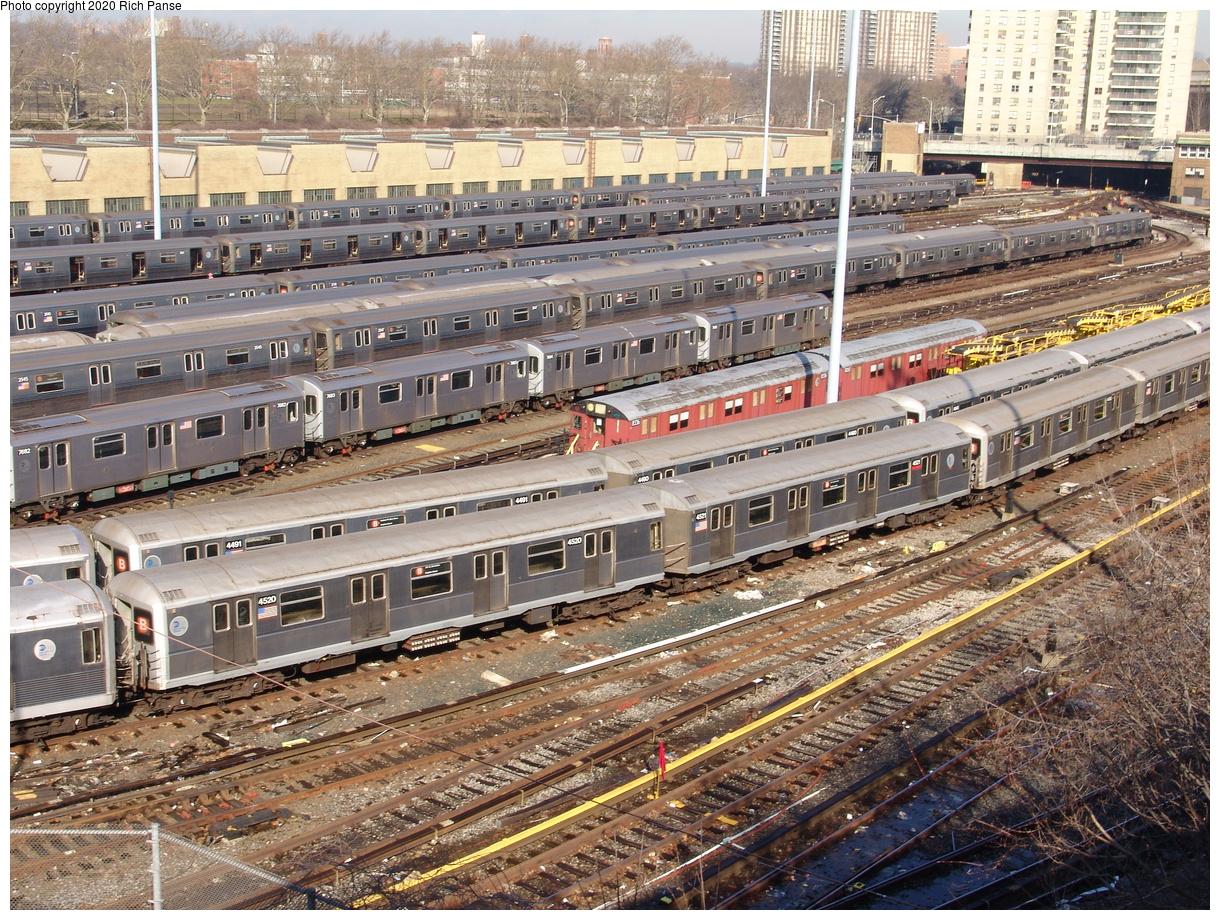 (387k, 1044x788)<br><b>Country:</b> United States<br><b>City:</b> New York<br><b>System:</b> New York City Transit<br><b>Location:</b> Concourse Yard<br><b>Car:</b> R-40M (St. Louis, 1969)  4520 <br><b>Photo by:</b> Richard Panse<br><b>Date:</b> 1/24/2006<br><b>Viewed (this week/total):</b> 0 / 5661