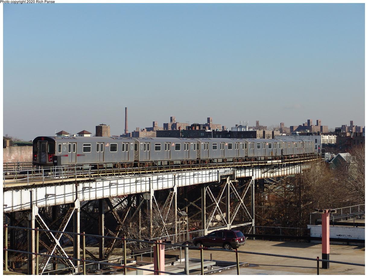 (253k, 1044x788)<br><b>Country:</b> United States<br><b>City:</b> New York<br><b>System:</b> New York City Transit<br><b>Line:</b> IRT White Plains Road Line<br><b>Location:</b> West Farms Sq./East Tremont Ave./177th St. <br><b>Route:</b> 2<br><b>Car:</b> R-142 (Primary Order, Bombardier, 1999-2002)  6675 <br><b>Photo by:</b> Richard Panse<br><b>Date:</b> 1/24/2006<br><b>Viewed (this week/total):</b> 1 / 5919