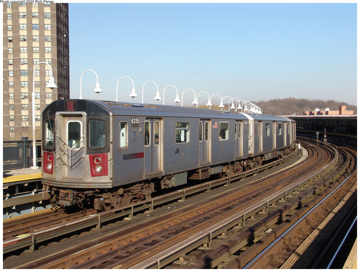 (267k, 1044x788)<br><b>Country:</b> United States<br><b>City:</b> New York<br><b>System:</b> New York City Transit<br><b>Line:</b> IRT White Plains Road Line<br><b>Location:</b> West Farms Sq./East Tremont Ave./177th St. <br><b>Route:</b> 2<br><b>Car:</b> R-142 (Primary Order, Bombardier, 1999-2002)  6315 <br><b>Photo by:</b> Richard Panse<br><b>Date:</b> 1/24/2006<br><b>Viewed (this week/total):</b> 6 / 4515