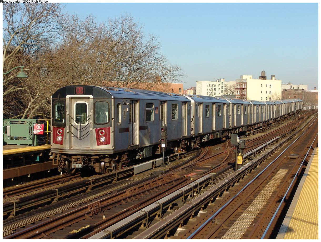 (337k, 1044x788)<br><b>Country:</b> United States<br><b>City:</b> New York<br><b>System:</b> New York City Transit<br><b>Line:</b> IRT White Plains Road Line<br><b>Location:</b> Jackson Avenue <br><b>Route:</b> 2<br><b>Car:</b> R-142 (Primary Order, Bombardier, 1999-2002)  6776 <br><b>Photo by:</b> Richard Panse<br><b>Date:</b> 1/24/2006<br><b>Viewed (this week/total):</b> 3 / 3408