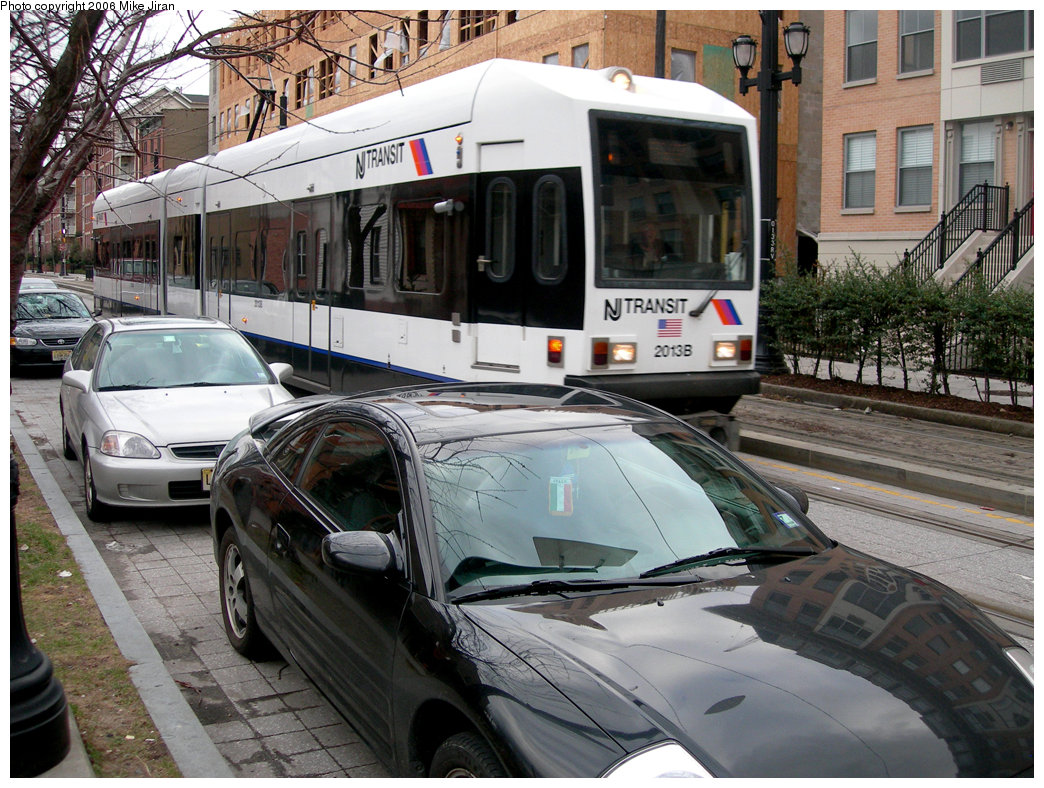 (281k, 1044x788)<br><b>Country:</b> United States<br><b>City:</b> Jersey City, NJ<br><b>System:</b> Hudson Bergen Light Rail<br><b>Location:</b> Van Vorst Street <br><b>Car:</b> NJT-HBLR LRV (Kinki-Sharyo, 1998-99)  2013 <br><b>Photo by:</b> Mike Jiran<br><b>Date:</b> 2/5/2006<br><b>Viewed (this week/total):</b> 0 / 2238