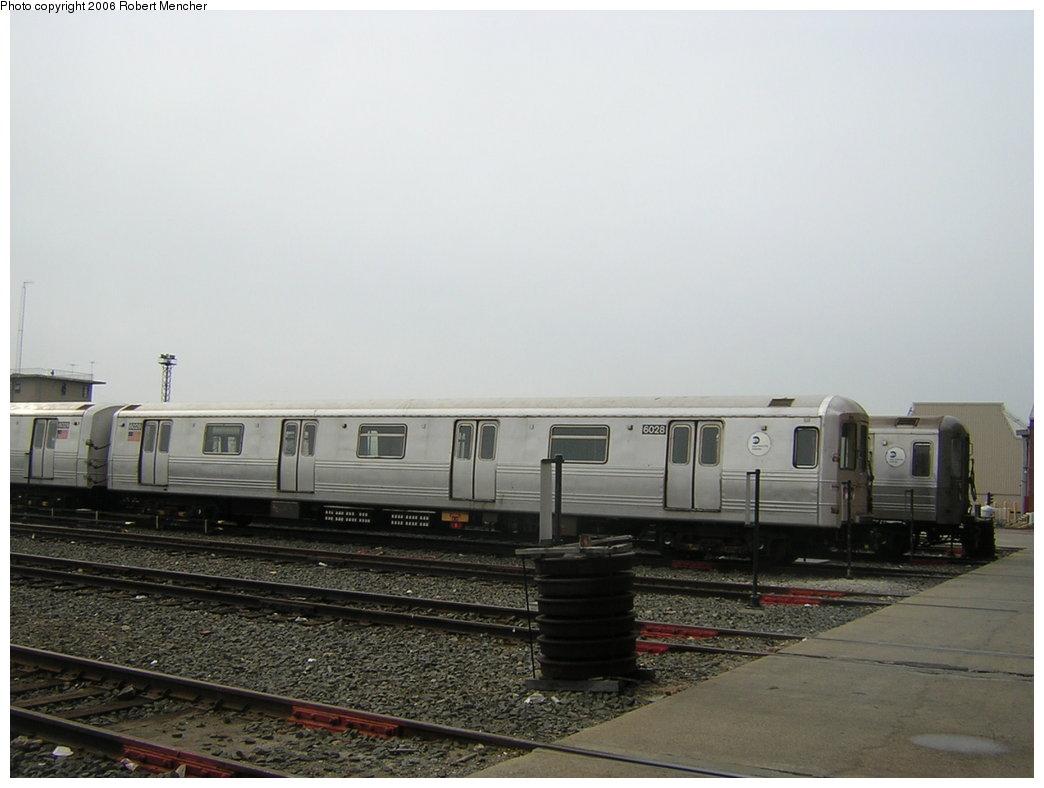 (151k, 1044x788)<br><b>Country:</b> United States<br><b>City:</b> New York<br><b>System:</b> New York City Transit<br><b>Location:</b> Coney Island Yard<br><b>Car:</b> R-46 (Pullman-Standard, 1974-75) 6028 <br><b>Photo by:</b> Robert Mencher<br><b>Date:</b> 2/10/2006<br><b>Viewed (this week/total):</b> 1 / 2512