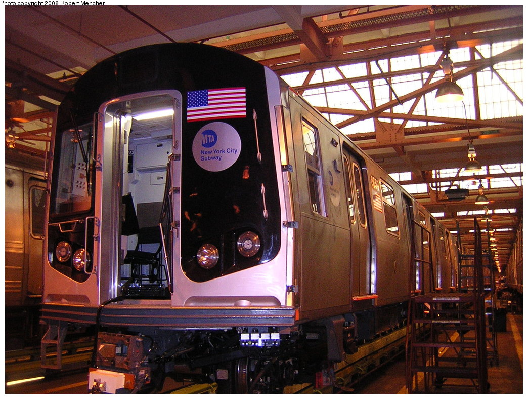 (264k, 1044x788)<br><b>Country:</b> United States<br><b>City:</b> New York<br><b>System:</b> New York City Transit<br><b>Location:</b> Coney Island Shop/Overhaul & Repair Shop<br><b>Car:</b> R-160A-2 (Alstom, 2005-2008, 5 car sets)  8653 <br><b>Photo by:</b> Robert Mencher<br><b>Date:</b> 2/10/2006<br><b>Viewed (this week/total):</b> 0 / 3180