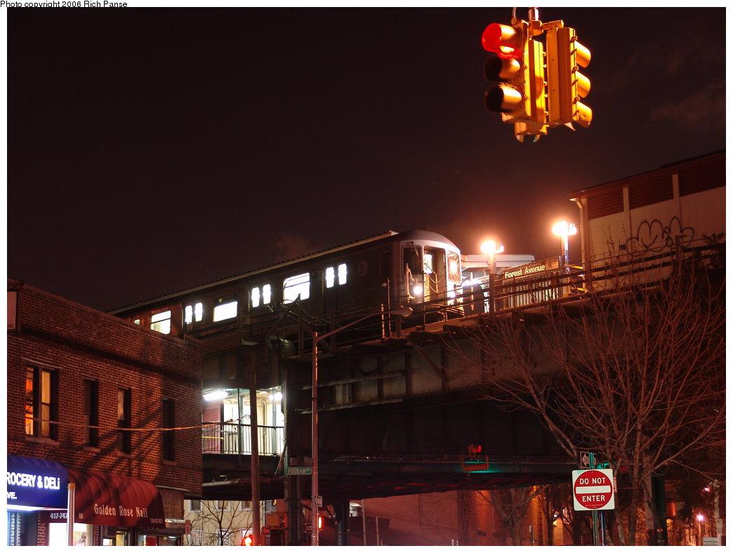 (160k, 1044x788)<br><b>Country:</b> United States<br><b>City:</b> New York<br><b>System:</b> New York City Transit<br><b>Line:</b> BMT Myrtle Avenue Line<br><b>Location:</b> Forest Avenue <br><b>Route:</b> M<br><b>Car:</b> R-42 (St. Louis, 1969-1970)  4778 <br><b>Photo by:</b> Richard Panse<br><b>Date:</b> 2/25/2006<br><b>Viewed (this week/total):</b> 0 / 4434