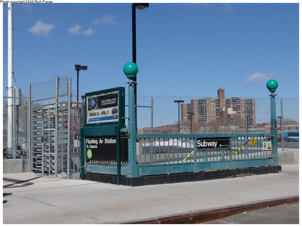 (181k, 1044x788)<br><b>Country:</b> United States<br><b>City:</b> New York<br><b>System:</b> New York City Transit<br><b>Line:</b> IND Crosstown Line<br><b>Location:</b> Flushing Avenue <br><b>Photo by:</b> Richard Panse<br><b>Date:</b> 2/26/2006<br><b>Viewed (this week/total):</b> 3 / 6800