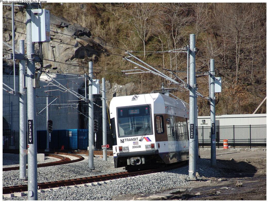 (317k, 1044x788)<br><b>Country:</b> United States<br><b>City:</b> Weehawken, NJ<br><b>System:</b> Hudson Bergen Light Rail<br><b>Location:</b> Weehawken (Palisade) Tunnel (East Portal) <br><b>Car:</b> NJT-HBLR LRV (Kinki-Sharyo, 1998-99)  2002 <br><b>Photo by:</b> Richard Panse<br><b>Date:</b> 2/26/2006<br><b>Viewed (this week/total):</b> 0 / 2124
